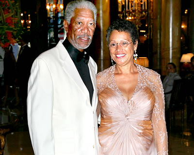 Myrna and Morgan Freeman