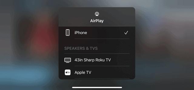 AirPlay Roku Device Selection