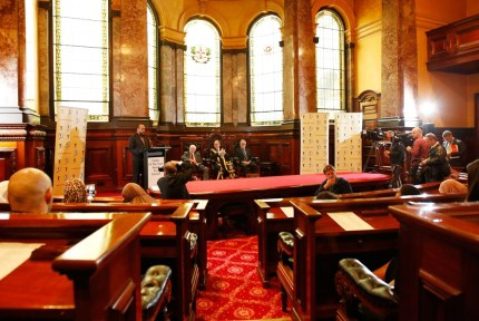 2015 speaking at Melbourne Town Hall Council Chambers