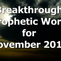 Breakthrough Prophetic Word for November 2014