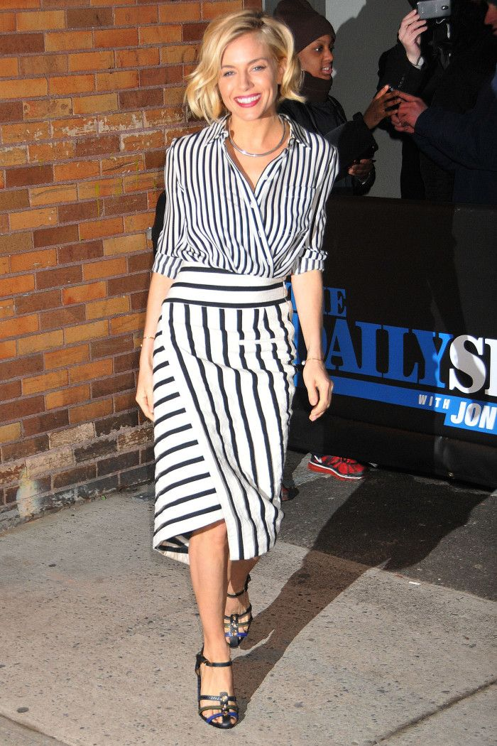 January 15, 2015 - New York, NY - Sienna Miller Sienna Miller visits the Daily Show with Jon Stewart at 733 11th Avenue.  Photo Credit: Demis Maryannakis/Star Max