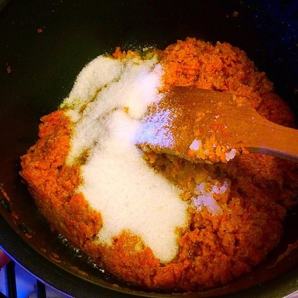 Gajar (carrot) ka halwa - a dessert by Fatima Cooks
