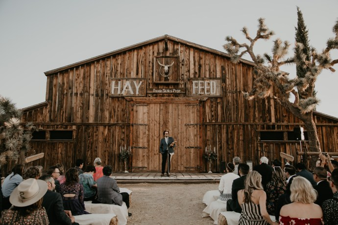 Pioneertown Wedding, photo by Fatima Elreda Photo