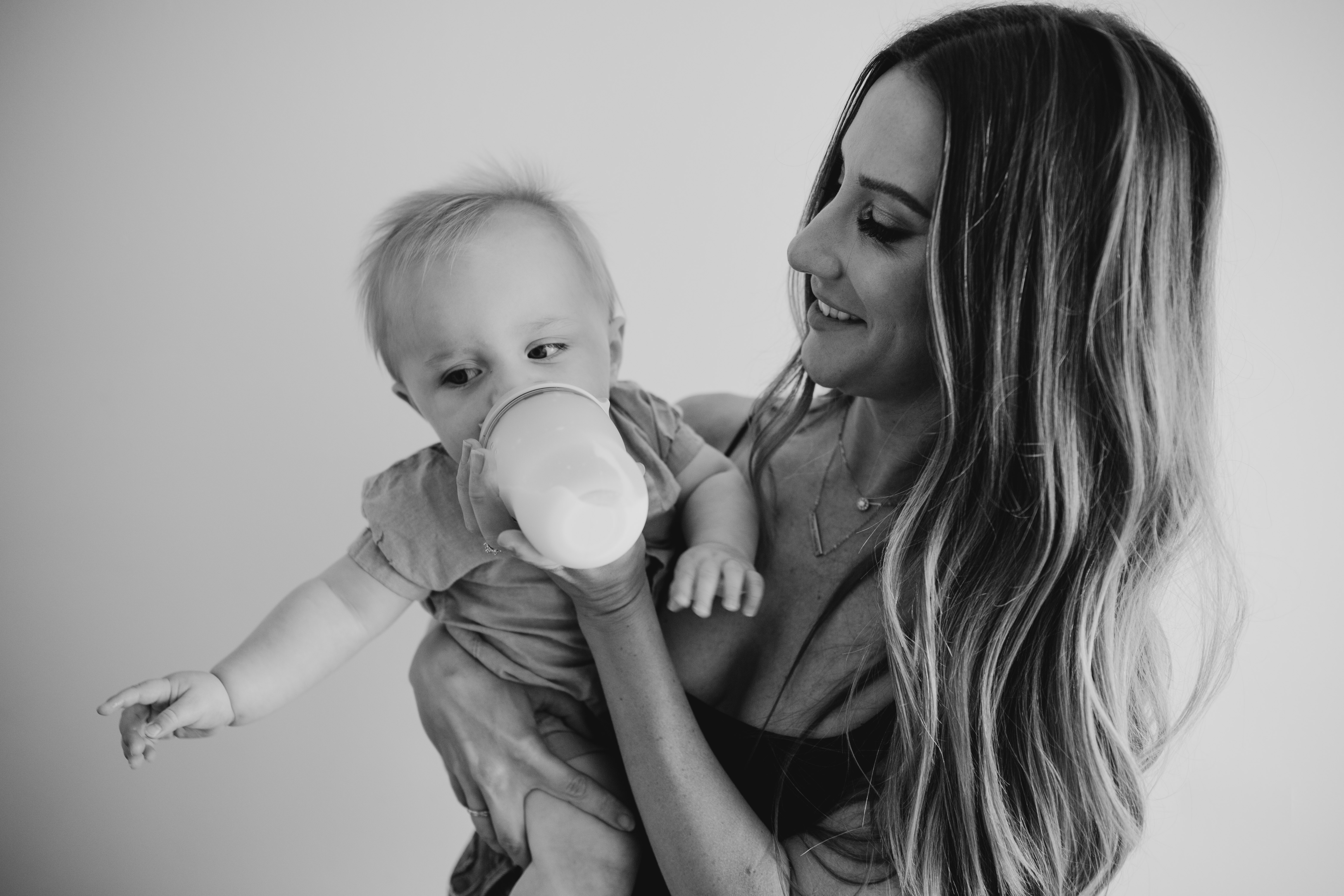 Black and white mom and son photo, image by Fatima Elreda Photo