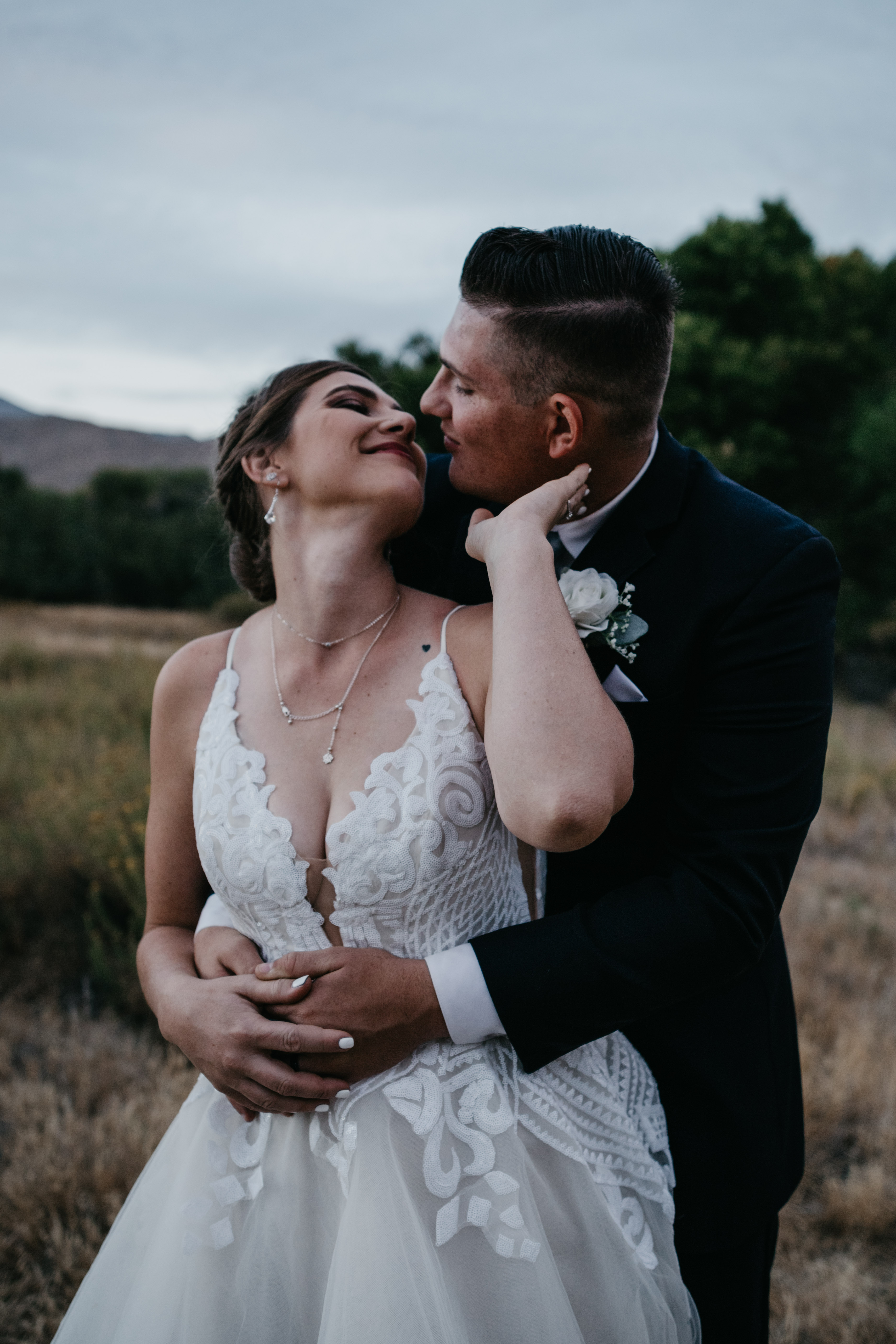 Bride and Groom portraits in Palm Desert, image by Fatima Elreda Photo