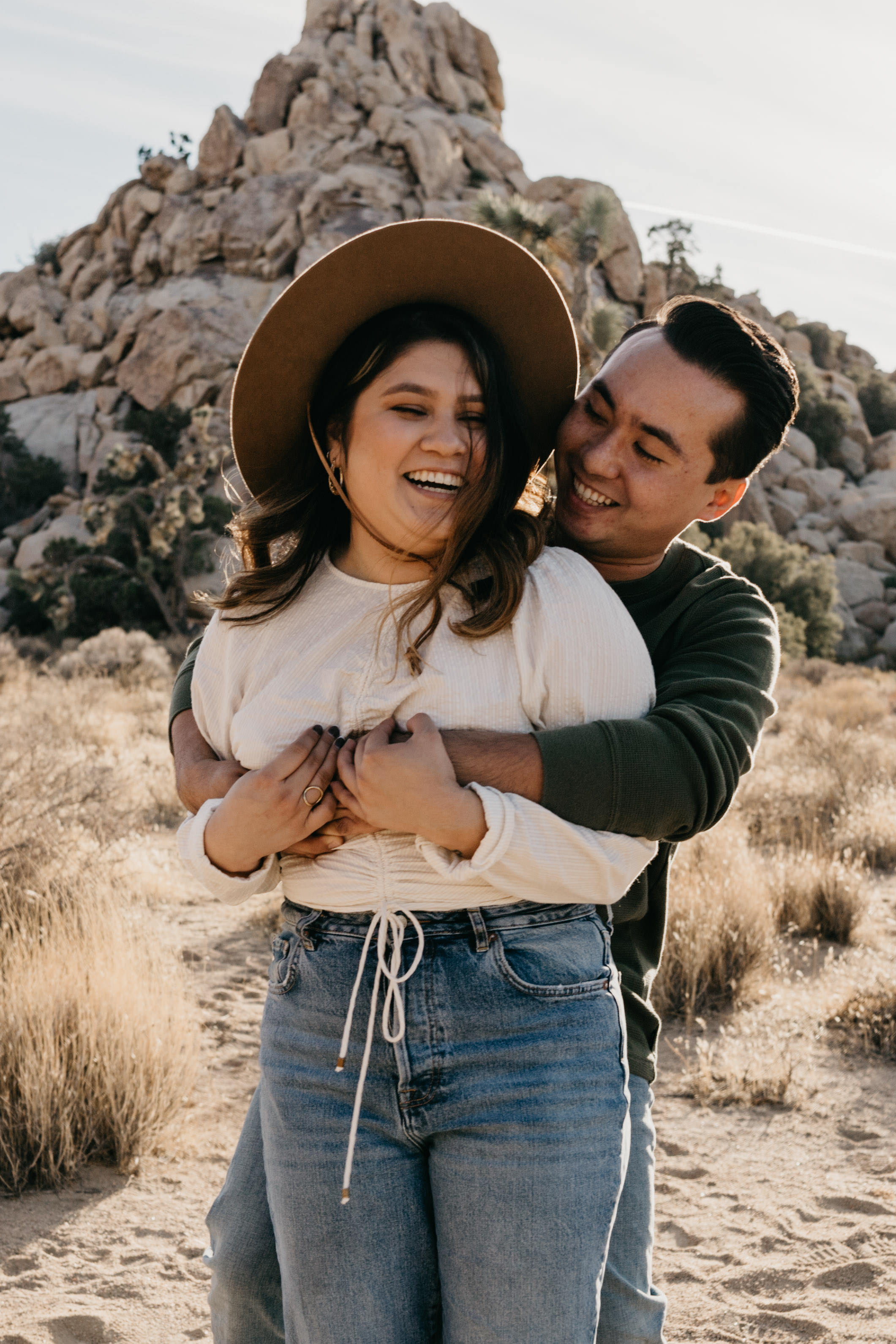 Joshua Tree Couple Photoshoot, image by Fatima Elreda Photo