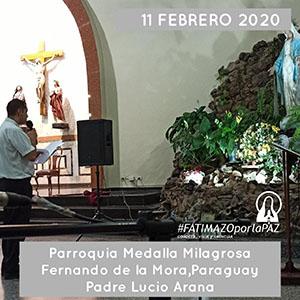 MEDALLA MILAGROSA FERNANDO DE LA MORA PARAGUAY 2 300