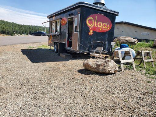 Olga's food truck in bailey