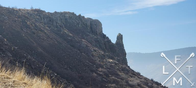 The edge of North Table Mountain from the trail up to the top.