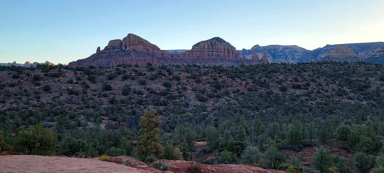 More sunrise pictures of the rocks surrounding the Cathedral Rock Hike.