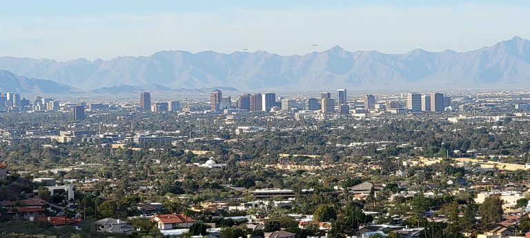 Downtown Phoenix from the westside of the Freedom Trail (#302).
