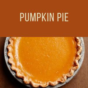Thanksgiving Pumpkin Pie To Go