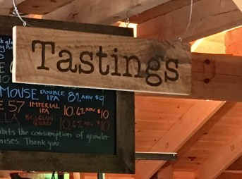 Tastings sign