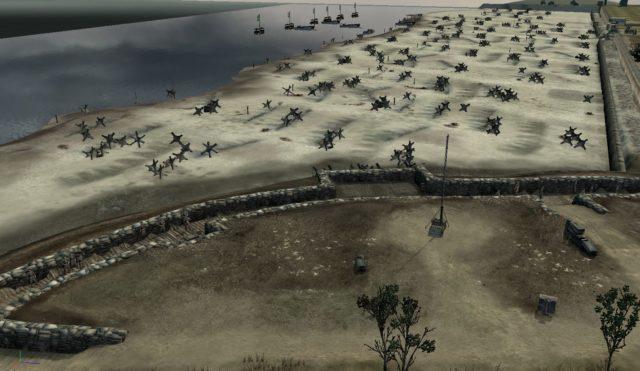 """O jogo Company of Heroes, simula o ataque a praia de Omaha na primeira missão da campanha """"Invasion of Normandy"""" (Invasão da Normandia)"""