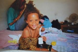 Binta 3 år, Bakau, 1992