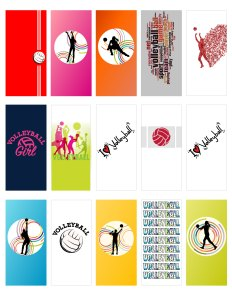 Free volleyball mini chocolate wrappers template