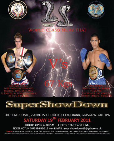 Super Show Down 2-19-11 Quick Results