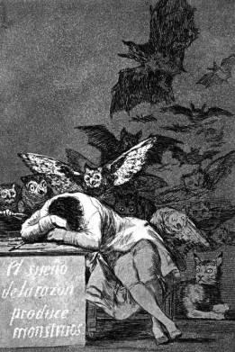 Il sonno della ragione genera mostri - Francisco Goya, 1797, incisione ad acquaforte