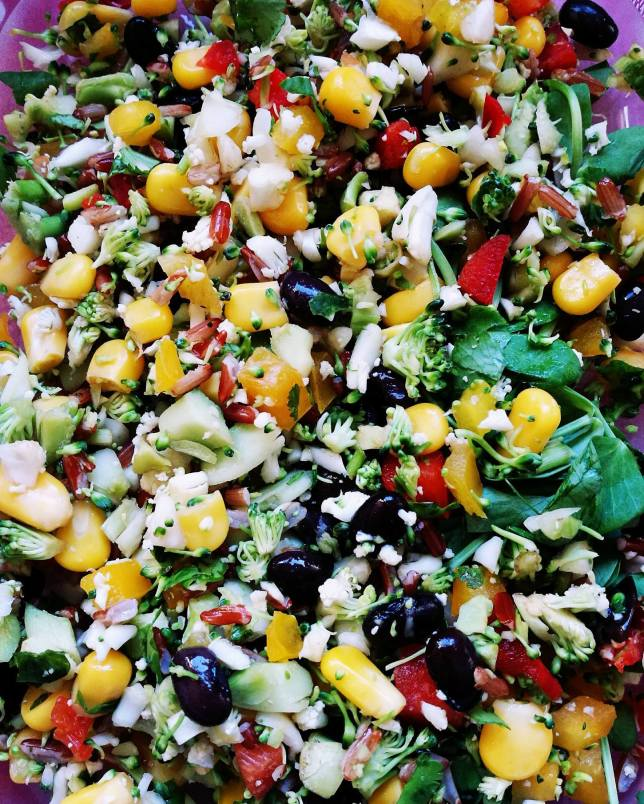 A colourful M&S salad from this week!