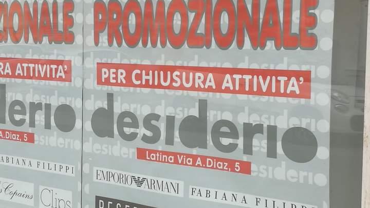 Negozi, ultimo atto: chiudono anche Fabrizio, Desiderio e Pantano