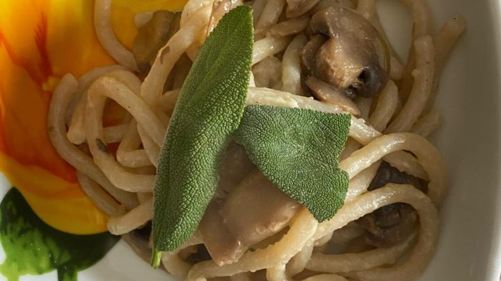 Cuciniamo insieme: Pici senesi ai funghi Champignon e salvia