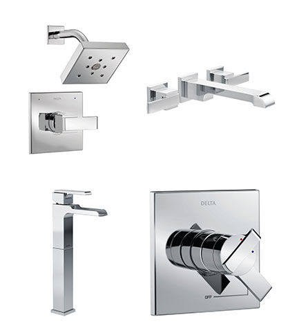 delta ara collection faucets and