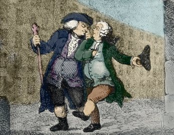 Caricature of Samuel Johnson and James Boswell. --- Image by © Lebrecht Authors/Lebrecht Music & Arts/Corbis
