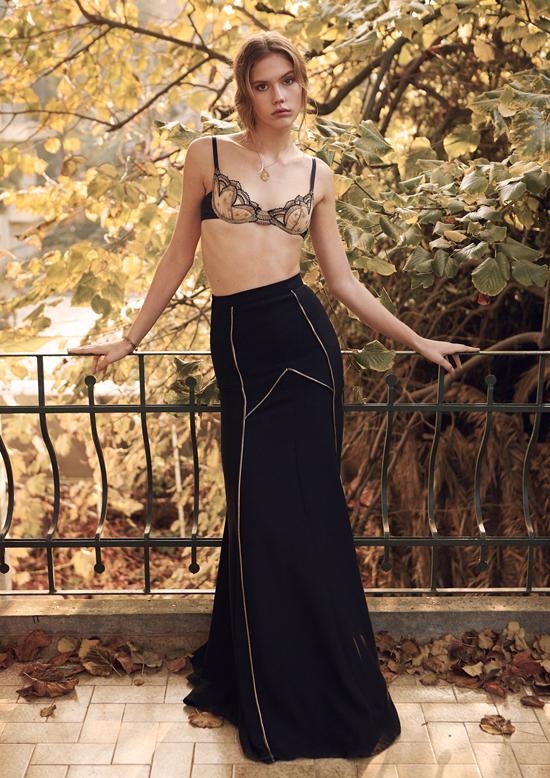 Bra: 25th Hours Lingerie Skirt: Orkun Sevim Necklace: Stylist's own