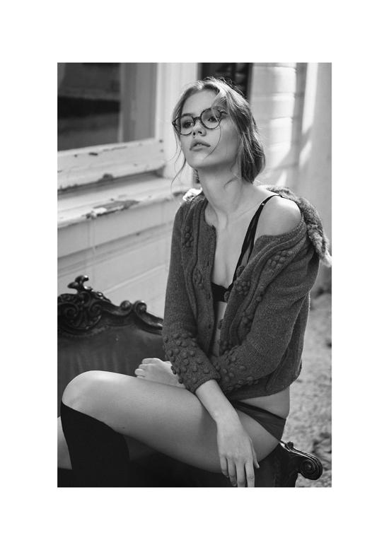 Lingerie: 25th Hours Lingerie Sweater: Yargici Glasses: Giorgio Armani