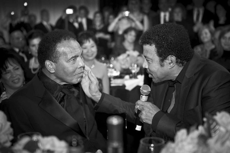 Lionel with Muhammad Ali - Photo courtesy Alan Silfen