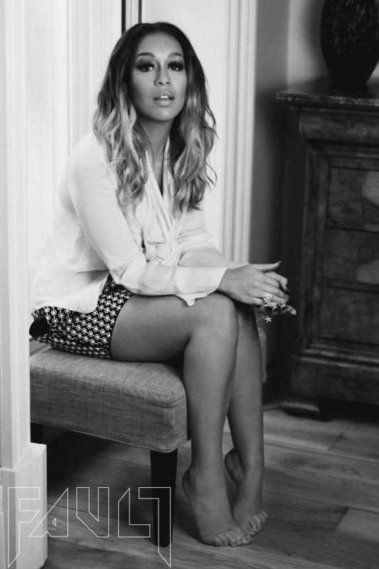 Shirt - Edeline Lee / Skirt - Holly Fulton / Jewellery - Swarovski