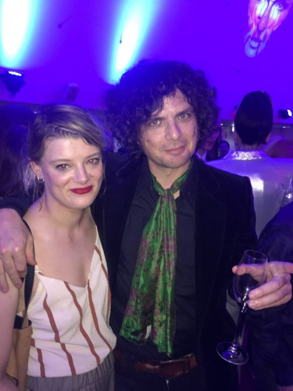 Flora Neighbour with music journalist Will Hodgkinson