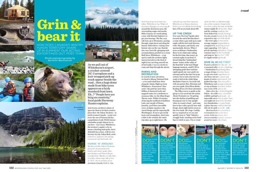 Womens Health grin and bear it