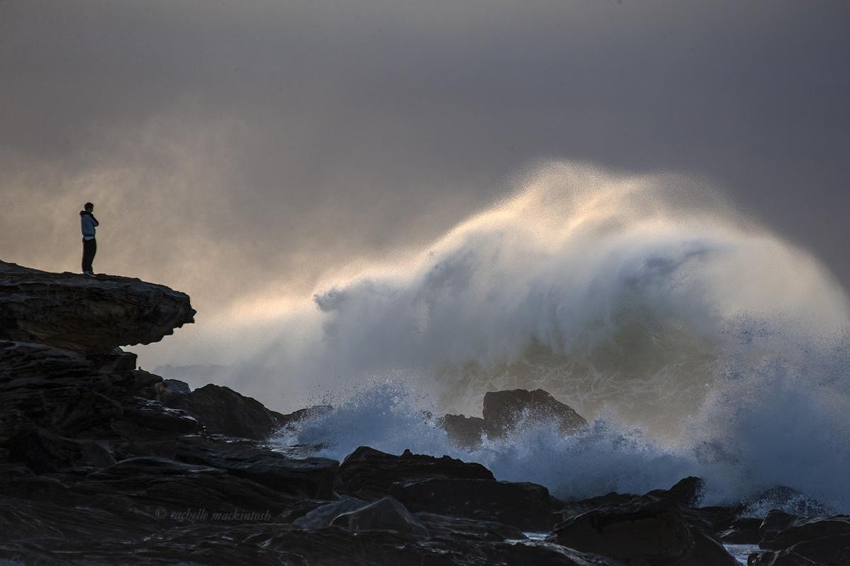 sunrise storm waves north maroubra australia