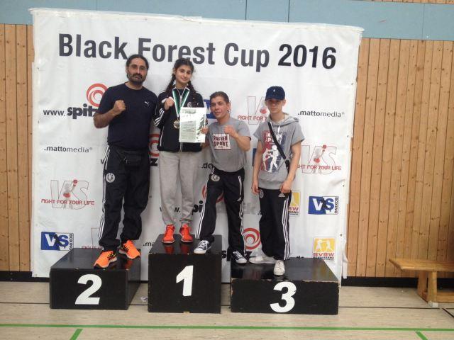Sahika und Christian beim Black Forest Cup