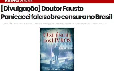 """Reino Literário – Publica sobre """"O Silêncio dos Livros"""""""