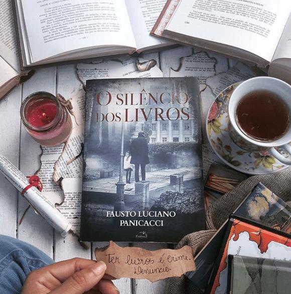 """Resenha do IG @eusouumpoucodecadalivroqueli sobre minha obra """"O Silêncio dos Livros""""."""