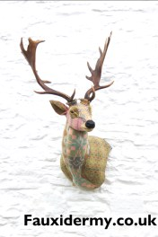 textile taxidermy fauxidermy fallow deer welsh blankets
