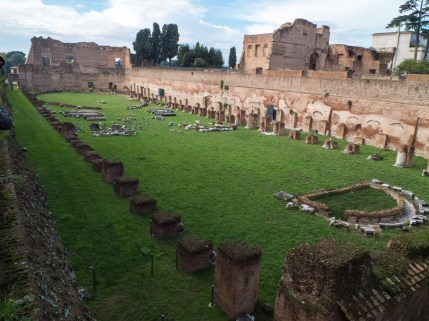 At the top of Palatine Hill.