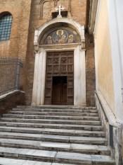 Entrance to Basilica di Santa Maria in Ara coeli al Campidoglio