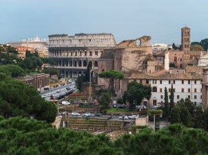The Colosseum as seen from the top of Capitoline Hill