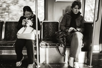 As a street photographer, one of the requisite photos is one of our interaction-less society.