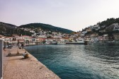 The Village of Hydra as seen from the harbor.