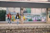 Grafitti at one of the Circumvesuviana stops.