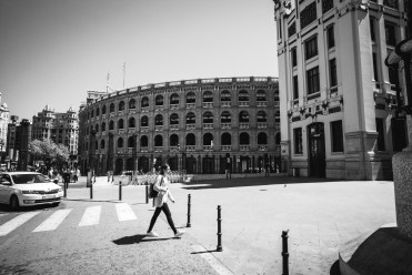 Bull fighting ring next to the centra train station in Valencia