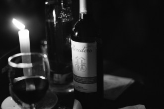 One of the culprit wine bottles at the dinner and flamenco show