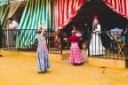 Girl dancing flamenco
