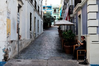 """Coffee and Cigarette"" Old San Juan Leica M-P / Summilux 50mm"