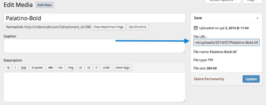 Manually adding a font to WordPress without a plugin