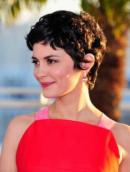 Cool Wavy Pixie Hairstyle